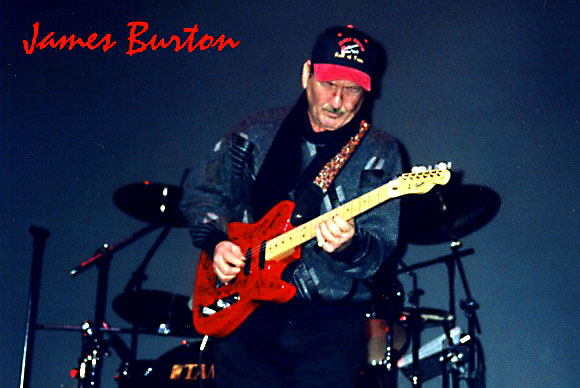 Legendary guitarist, James Burton